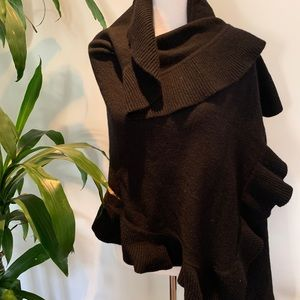 H&M Accessories - H&M black knit shawl scarf wrap